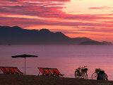 Sunrise Over Nha Trang Beach, Nha Trang, Khanh Hoa, Vietnam Photographic Print by John Banagan