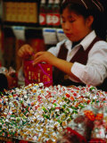 Customer in Sweets Shop, Shanghai, China Photographic Print by Phil Weymouth