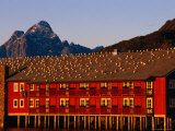 Gulls Sunning Themselves on Top of Building, Svolvaer, Lofoten, Nordland, Norway Photographic Print by Christian Aslund