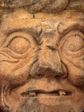 Stone Statue of the Mayan God Pahuatun at the Maya Ruins, Copan, Honduras Photographie par Alfredo Maiquez