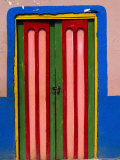 Colourful Door, Raquira, Colombia Photographic Print by Krzysztof Dydynski