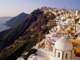 Town on Cliff Top, Fira, Greece Photographic Print by Pershouse Craig