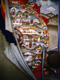 "Half Covered ""Wheel of Life"" Painting in Trongsa Dzong, Trongsa, Trongsa, Bhutan Photographic Print by Richard I'Anson"