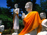 Buddha Statues at Wat Yai Chai Mongkhon, Ayuthaya Historical Park, Thailand Photographic Print by Paul Beinssen