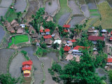 Overhead View of Village and Rice Terraces, Batad, Philippines Reproduction photographique par Mark Daffey