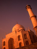 Taj Mahal and Minaret at Sunrise, Agra, Uttar Pradesh, India Photographic Print by Dallas Stribley
