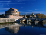 Castel Sant'Angelo and Ponte Sant'Angelo on River Tevere, Rome, Italy Photographic Print by Jonathan Smith