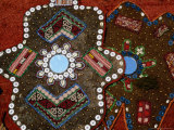 Craft Decoration with Inlaid Buttons and Mirrors, Konya, Turkey Photographie par Wayne Walton