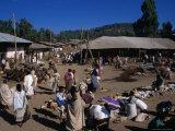Street Market in Village, Gondar, Amhara, Ethiopia Photographic Print by Jane Sweeney