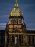 Neo-Renaissance National Museum (Narodni Muzeum), Prague, Czech Republic Photographic Print by Martin Moos