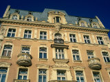 Facade of Art-Nouveau Building, Lodz, Lodzkie, Poland Fotoprint van Krzysztof Dydynski