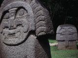 Carved Stone Figures at San Agustin Archaelogical Park, San Agustin, Huila, Colombia, Photographic Print