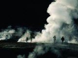 Steam from Geysers at Dawn, El Tatio Geysers, Chile Photographic Print by Woods Wheatcroft
