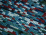 Aerial of New Cars Parked in Storage at the Melbourne Docks, Melbourne, Australia Photographic Print by Rodney Hyett