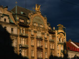 Art-Nouveau Facade of the Grand Hotel Europa, Prague, Czech Republic Photographie par Martin Moos