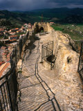 Ridge of Upper Defence at Castle, Sperlinga, Italy Photographic Print by Wayne Walton