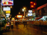 Street at Night, Thanon Khao San, Bangkok, Thailand Photographic Print by Ryan Fox