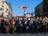 War Veterans Down Nevsky Prospekt During Celebrations for Victory Day, St. Petersburg, Russia Photographie par Jonathan Smith