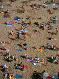 Sunbathers on Plage Du Mole (Beach), St. Malo, Brittany, France Photographic Print by Martin Moos