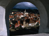 The Old Town from Krumlov Castle Tower, Cesky Krumlov, South Bohemia, Czech Republic Photographic Print by Martin Moos