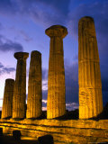 Valley of Temples at Temple of Hercules, Agrigento, Italy Photographic Print by Wayne Walton