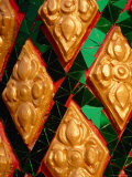 Colourful Glass Mosaic at Temple, Vientiane, Vientiane Prefecture, Laos Photographic Print by Martin Lladó