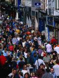 Shoppers on Grafton Street, Dublin, Ireland Photographic Print by Martin Moos