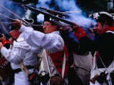 Colonial Military Demonstration On 4Th July, Washington DC, U.S.A. Lámina fotográfica por Richard I'Anson