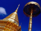 Detail of Doi Suthep Chedi and Parasol, Chiang Mai, Thailand Photographic Print by Ryan Fox
