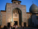 Entrance to the Bogh&#39;E-Ye Shah-E Cheragh, or the Tomb of the King of the Lamp, Shiraz, Iran Photographic Print by Simon Richmond