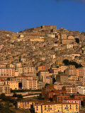 Townscape on Monte Marone, Gangi, Italy Photographic Print by Wayne Walton