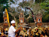A Pemangku (Spiritual Leader) Sprinkles Holy Water at Pura Penataran Agung, Indonesia Photographic Print by Adams Gregory