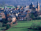 Town of Collonges-La-Rouge and Surroundings Fields, Collonges-La-Rouge, France Photographic Print by Oliver Strewe