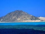 View of Rocky Island, South of Zabargad, Red Sea, Egypt Photographic Print by Casey Mahaney
