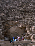 Tourists Entering Shaft of Pyramid of Cheops at Giza Cairo, Egypt Photographic Print by Phil Weymouth