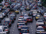 Traffic Jam, Bangkok, Thailand Photographic Print by Paul Beinssen