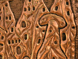 "Detail of Copper Representation of ""Fairy Chimneys,"" Goreme, Cappadocia, Turkey Photographic Print by Wayne Walton"