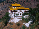 Trashigang Dzong (Fort-Monastery), Trashigang, Bhutan Photographic Print by Nicholas Reuss