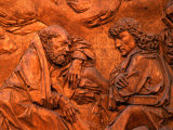 Detail of Wood Carved Altar by Tilman Riemenschneider in St. James Church, Germany Photographic Print by Martin Moos