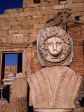 The head of Medusa and Nereid surround the entire Severan Forum - Leptis Magna, Tripolitania Photographic Print by Patrick Syder