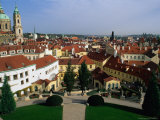 Vrtbov Garden and Rooftops of Mala Strana, Prague, Czech Republic Photographic Print by Richard Nebesky