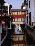 Buildings on the Canal, Suzhou, Jiangsu, China Photographic Print by Diana Mayfield