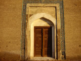 Mosque Door, Bukhoro, Bukhara, Uzbekistan Photographic Print by Jane Sweeney