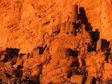 Abandoned Tellem Cliff Dwellings, Banani, Mali Photographic Print by John Elk III