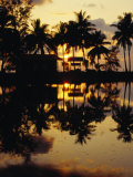 Sunset Over Khlong Phrang Hat, Trat, Thailand Photographic Print by Richard Nebesky