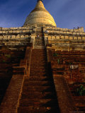 Steep Stairs to Upper Terraces of Shwesandaw Paya Old Bagan, Mandalay, Myanmar (Burma) Photographic Print by Glenn Beanland