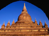 Recently Restored Cetanagyi Paya South of New Bagan, Bagan, Mandalay, Myanmar (Burma) Photographic Print by Tony Wheeler
