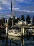 Yacht Docked at Moyne River Port Fairy, Victoria, Australia Photographic Print by Glenn Beanland