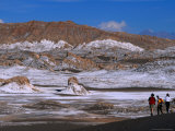 People Walking in the Valley of the Moon at San Pedro De Atacama, Valle De La Luna, Chile Photographic Print by Brent Winebrenner