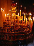Prayer Candles in Athens Cathedral, Athens, Attica, Greece Photographic Print by Setchfield Neil